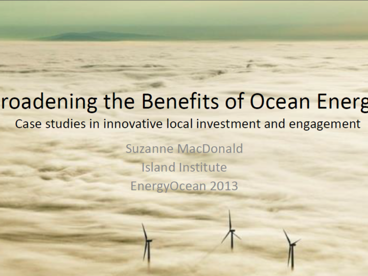 Broadening the Benefits of Ocean Energy